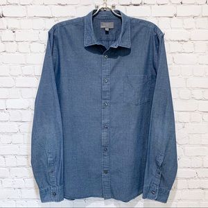 Vince Long Sleeve Button Down Chambray Style Shirt